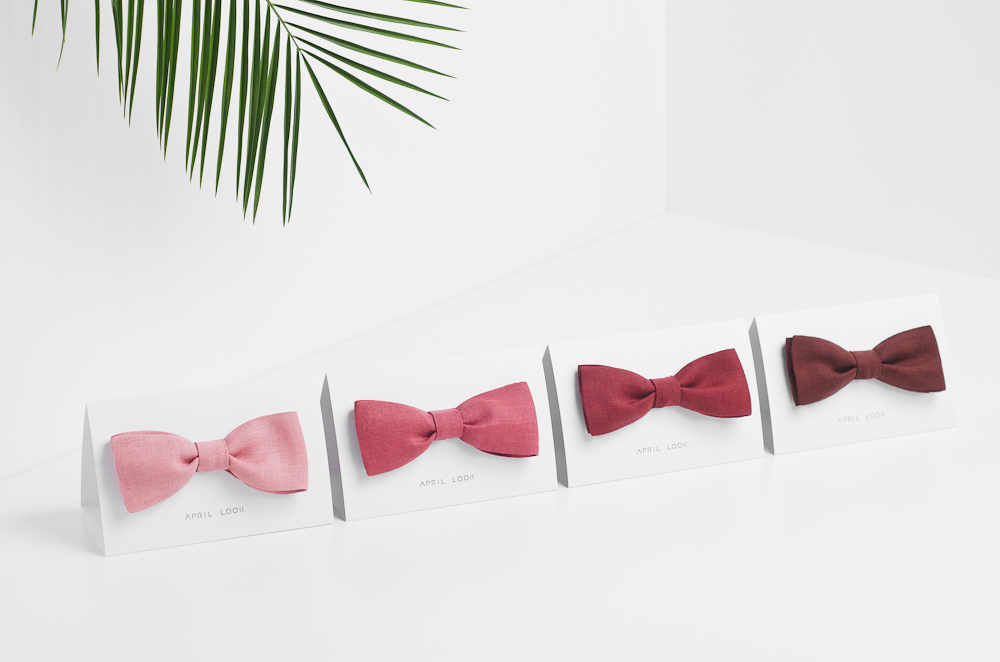 7_pink_bow_ties_linen_bow_ties